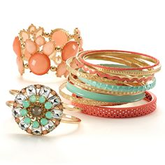 Coral and mint accent pieces to step up your spring look. #MeijerStyle