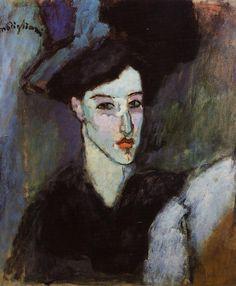 Amedeo Modigliani (1884-1920, Italy)  | Anna Achmatova, poet (1886-1966, Russia)