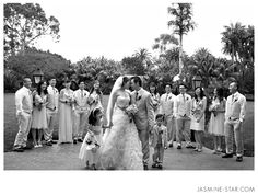 Nice group shot with B/G in front of party #weddingphotography #wedding http://www.jasminestarblog.com/index.cfm