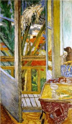 The Door Window With Dog - Pierre Bonnard