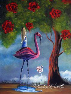 ALICE IN WONDERLAND fine art print Surreal Fantasy by shawnaerback