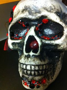 skull with gems ~glam spooky
