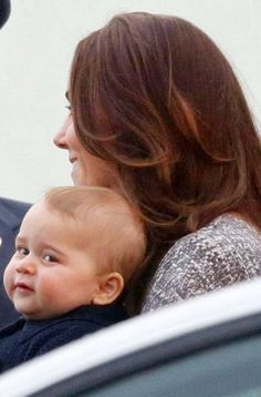 Kate and George looking happy