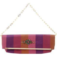 Pignarea Handbag ($220) ❤ liked on Polyvore featuring bags, handbags, clutches, garnet, strap purse, colorful purses, purse clutches, multi color purse and handbags clutches
