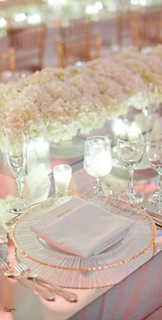 wedding tablesetting