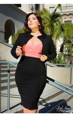 53c138d2660 Laura Byrnes California - High Waisted Seamed Pencil Skirt in Black Ponte  de Roma Knit -