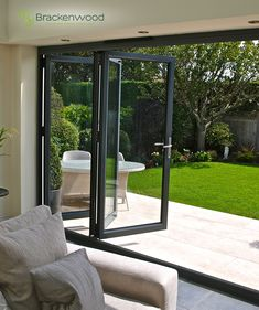 Contact us for a free and no obligation quotation via 01325 381630 or sales Bring the outside in with our Bi-Folding Doors. Aluminium Bi-Fold Doors / Aluminium Bi Folding Doors / Bi-F. Folding Patio Doors, Bifold Doors Onto Patio, French Doors Patio, Door Design, Windows And Doors, Home Interior Design, Interior Doors, Modern Interior, My Dream Home