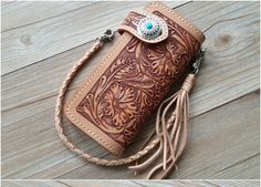 Classic Large Handmade Flowers Carved Flap Genuine tanned Leather Wallet  Purse Portefeuille Bolso Handtasche FREE SHIPPING $83.99 - 99.99