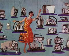 """bookofwonders:  """"I say there! Could you help me escape all of these overly shiny appliances?"""""""