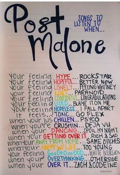 Post Malone songs to listen to Music Lyrics, Music Quotes, Music Songs, Life Quotes, Piano Music, Music Mood, Mood Songs, New Music, Latest Music