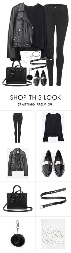 """""""Untitled#4329"""" by fashionnfacts ❤ liked on Polyvore featuring Cheap Monday, Zara, Jeffrey Campbell, Yves Saint Laurent, Acne Studios, Topshop, ASOS and A.P.C."""