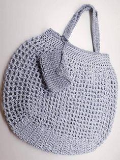 File Çanta Yapımı -Örgü File Çanta Yapımı - Vintage-style Pack-away Mesh Bag Crochet pattern by Little Conkers Best Tote Bags, Net Bag, Handmade Handbags, Fabric Dolls, Bag Making, Straw Bag, Crochet Patterns, Sewing, Knitting