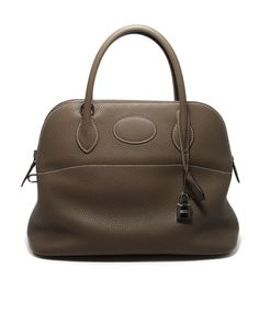 Hermes Taupe Leather 32 cm Bolide Bag