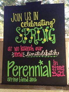 Spring Chalkboard, Perennial Coffee 2016