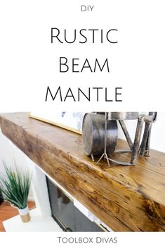 easy how to step by step tutorial on how to build rustic reclaimed floating mantel or shelves. Before and After home renovation. living room great DIY home decor ideas. Rustic Mantle, Decor, Home Diy, Fireplace Shelves, Diy Fireplace, Rustic House, Living Room Remodel, Home Decor, Traditional Decor