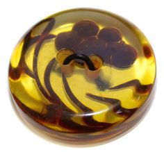 """¾"""" floral motif Bakelite button from the 1930 at KPHoppe  shop on Etsy with"""