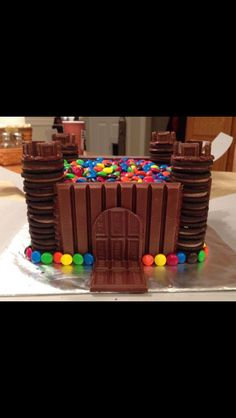 Chocolate Castle Cake Oh Yeah This Will Be A Holiday Project Love It