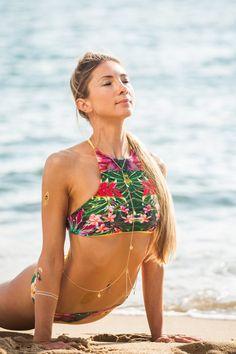 Mix & Match Eco Tropical Women's Bikini Top - Jungle Print Bikini Top Made From Recycled Plastic Bottles