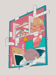 digital art graphic design aesthetic drawing photoshop modern anime style asian japanese chinese ethereal g e o r g i a n a : a r t Aesthetic Drawing, Aesthetic Art, Aesthetic Anime, Anime Art Girl, Manga Art, Character Illustration, Digital Illustration, Sun Projects, Isometric Art
