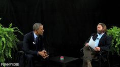 with Funny Or Die, Zach Galifianakis, Between Two Ferns, Scott Aukerman, Hall of Fame, President Barack Obama