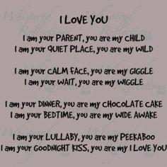 A Parent's Poem - I Love You
