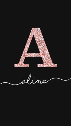 Wallpaper Aline Glitter Rosê by Gocase, glitter, nome, manuscrito, aline, gocase, lovegocase, wallpaper, name, fundo de tela, background, #lovegocase, #gocase, #wallpaper, #nome, #aline