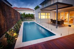 Barrier Reef Pools have been providing stunning fibreglass swimming pools for over 25 years. We are the only certified pool manufacturer in Australia Pool Paving, Swimming Pool Landscaping, Small Backyard Pools, Small Pools, Swimming Pool Designs, Backyard Patio, Outdoor Pool, Landscaping Ideas, Backyard Landscaping