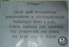 Gdzieś w pewnym zakładzie w Polsce... – dział kadr przypomina!