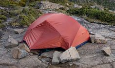 Setting up a #waterproof #tent when you can`t use poles.