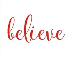 Believe- Christmas **STENCIL** Vertical ,Horizontal  - 6 Sizes available- Create Christmas Pillows and Christmas Signs!