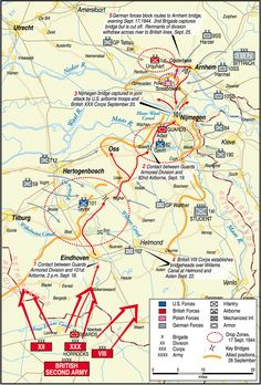 The complex Market-Garden operational plan depended on the capture of several key bridges over the Maas, Waal, and Lower Rhine Rivers in Holland and the swift movement of the British XXX Corps up a narrow road to relieve the airborne troops holding the spans.