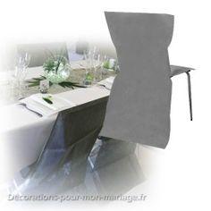 Housse de chaise jetable grise intissé pas chère moins de 1€50