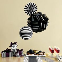 MarthaCelebrations™ Hanging Decoration Kit – Ebony - jcpenney | I would use these any time - not just for a party.