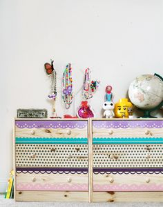 Adhesive Vinyl Dresser Makeover by Jessee M for Silhouette America