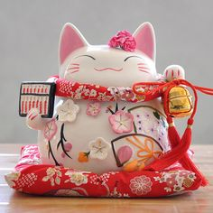 Buy Japanese Black lucky cat beckoning SETO ware wall pendulum clock for gift at online store