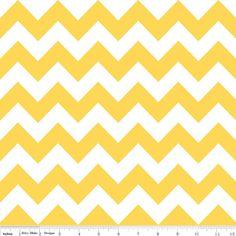riley blake designs chevron fabric, yellow, 1 yard $10, etsy shop fabricshoppe