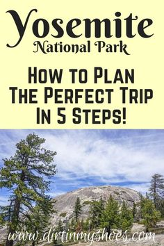 You're about to have so much fun in Yosemite National Park!  Planning an itinerary for your road trip or family vacation can be a challenge though, that's why I'm sharing these 5 Steps to Planning the Perfect Trip to Yosemite!  If you'll be hiking with kids, camping with families, or are on a photography adventure we'll hit your bucket lists hard! I'll be your travel guide so you'll know what things to do, and which hikes will take you to the most beautiful places! Beautiful Places To Visit, Cool Places To Visit, Yosemite National Park, National Parks, Hiking With Kids, Camping, Backpacking, Plan Your Trip, Amazing Destinations