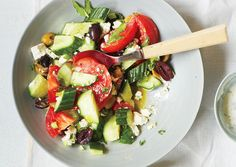 Cucumber, Tomato, and Feta Salad