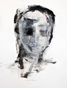 Annct Braunsteiner 'face studies no.3' Acrylic/Charcoal/Soft Pastels on Paper - AnnCT 06/2012  http://annctbraunsteiner.com/painting/art-work-2012/