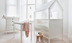 stokke home collection: so sweet for a crib and converts to a toddler bed.
