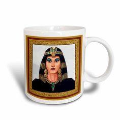 3dRose Simply Cleopatra, Ceramic Mug, 15-ounce