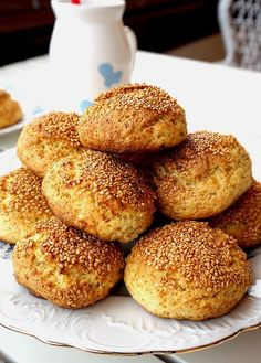 Visit the site for details. Ricotta Cookies, Cheese Cookies, Baking Recipes, Cake Recipes, Snack Recipes, Good Food, Yummy Food, Turkish Recipes, Sweet Cakes