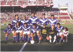 Campeón Torneo Apertura 1995.  Chilavert, Almandoz, Pellegrino, Sotomayor, Cardozo, Basualdo, Gomez, Bassedas, Pico, Flores, Gonzales, Trotta, Asad