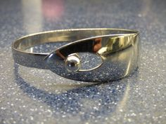 Vintage Napier Silver Metal Cuff - Silver Ball Bead Closure - Chic and Unique - Works as Designed - Shows Minimal Signs of Wear - Clean by ChicAvantGarde on Etsy