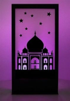 Silhouette Panel - Ask us for you Arabian scene to be printed onto a silhouette panel that can be lit up any colour: