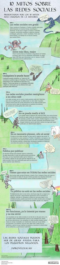 10 mitos sobre las Redes Sociales #infografia #infographic #socialmedia