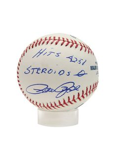 Pete Rose Hits 4256 Steroids 0 Signed Baseball By Brigandi Coins And Collectibles On Gilt Com Pete Rose Collectibles Baseball Memorabilia