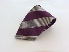Vitali Neck Tie Red Tan Striped 100% Silk #Vitali #NeckTie