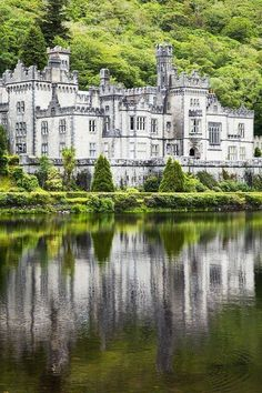 Kylemore Abbey Castle, County Galway in Ireland
