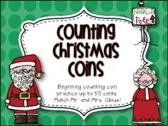 Counting Christmas Coins Freebie – Fabulous and Free - To Have a Nice Day School Holidays, School Fun, Winter Holidays, School Stuff, School Ideas, Math School, Winter Christmas, Xmas, Christmas Math